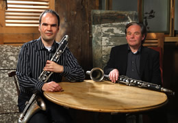 Duo De Clarinettes-Basses, Foto Hubert Lankes